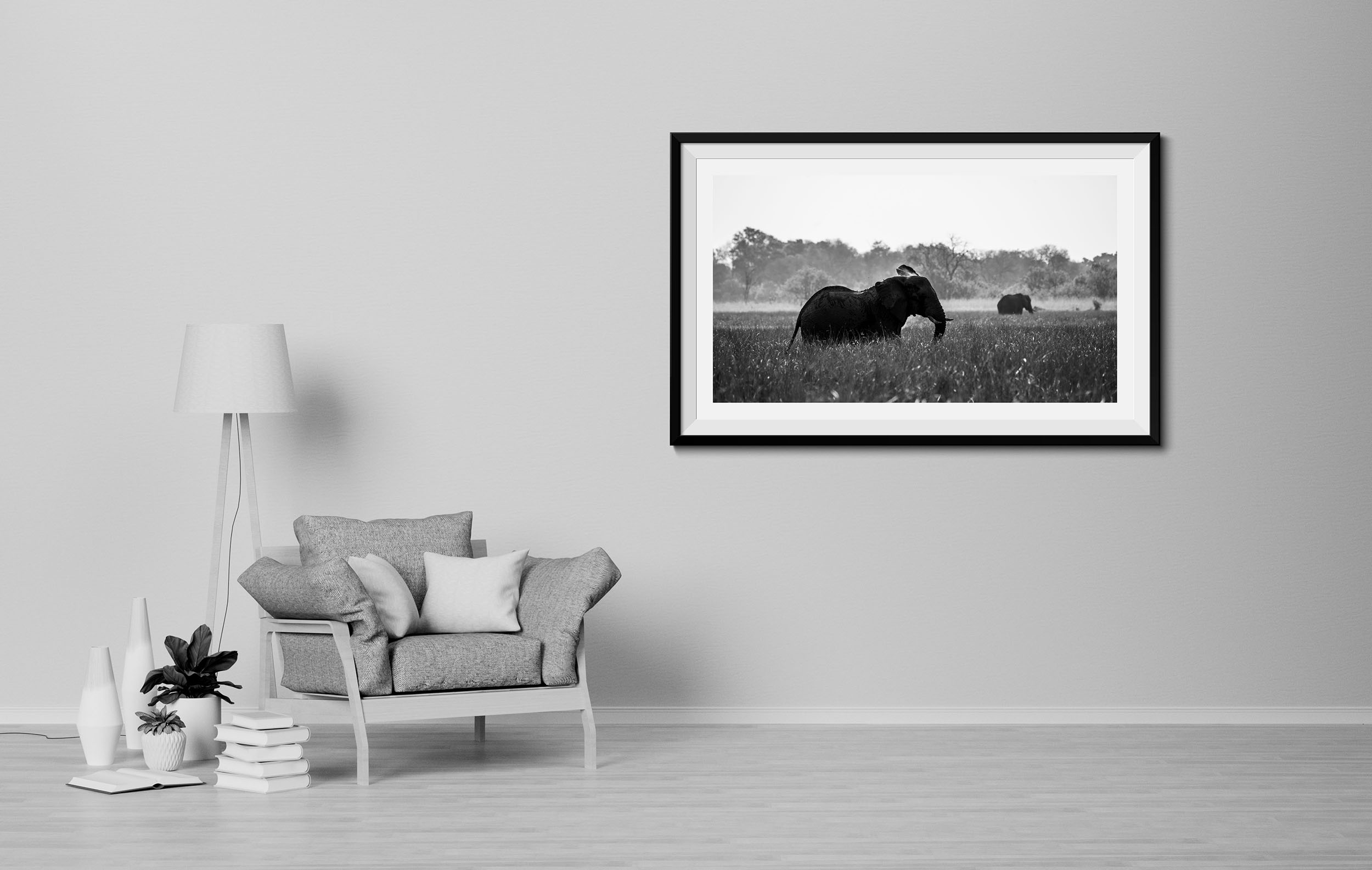 Elephant in the Grass Fine Art Photography Print
